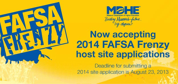 Now Accepting 2014 FAFSA Frenzy host site applications