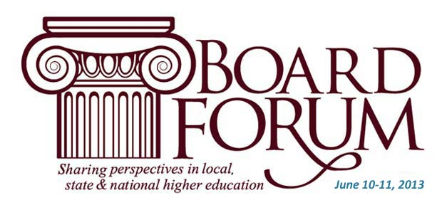 Governing Board Forum, June 10-11, 2013