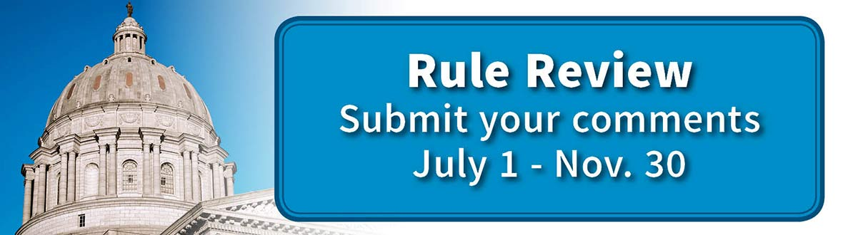 MDHE Rule Review - Submit your comments July 1-August 31, 2017